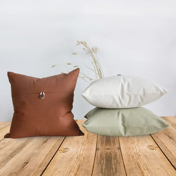 Solid linen cushions for home decoration