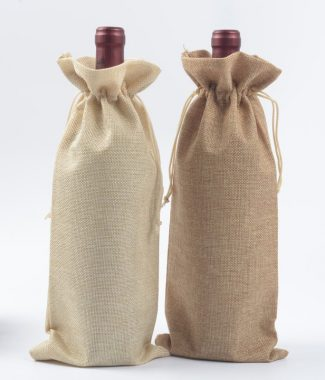 linen wine bottle bags