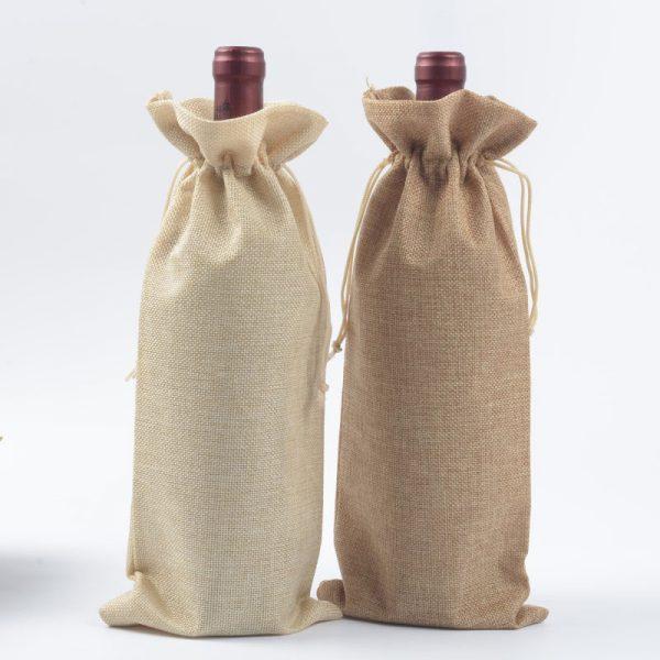 linen wine bottle bags