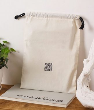 logo printed muslin cotton bags