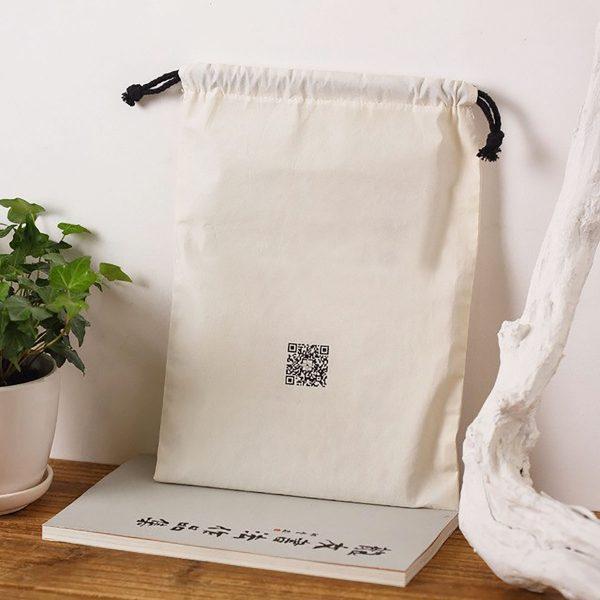 logo printed muslin cotton bags