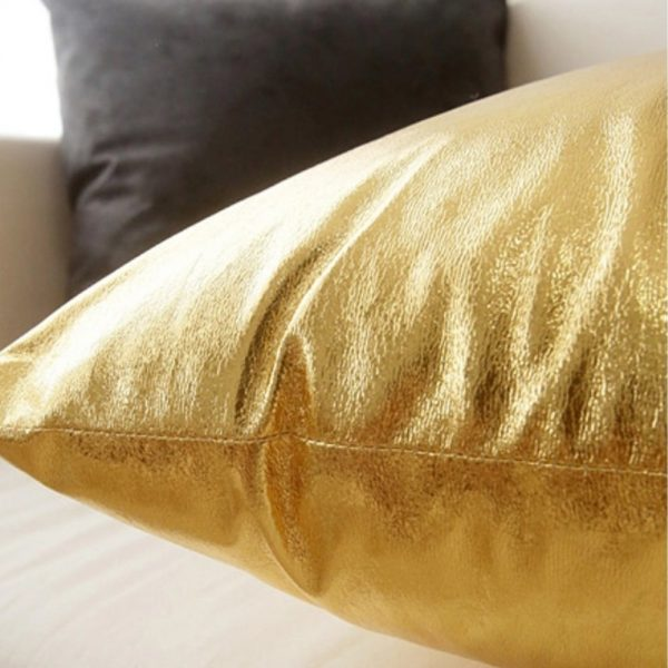 Golden pillow cover for decor