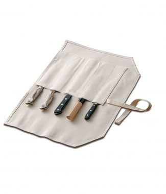 Roll-up cutlery bag with 100% cotton