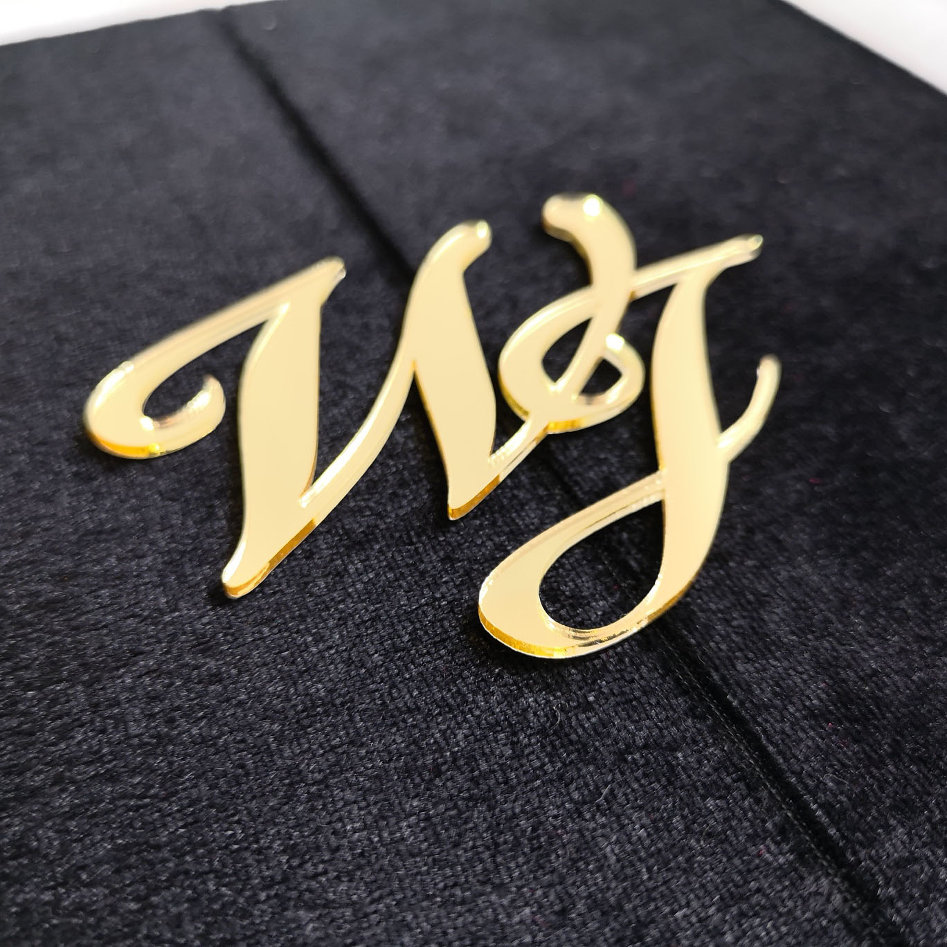 Acrylic monogram, laser cut