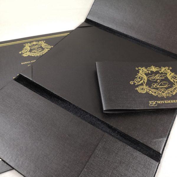 interior of velvet folder