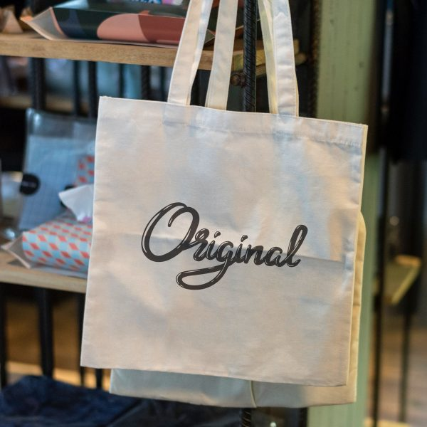 printed shopping bags with cotton fabric