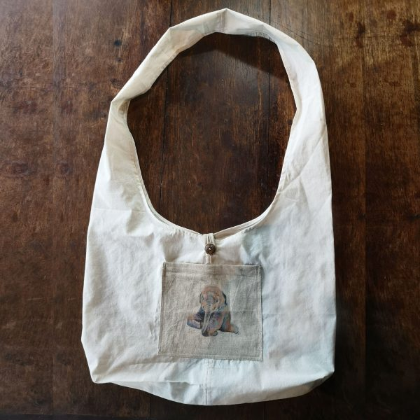 Thai cotton monk bag