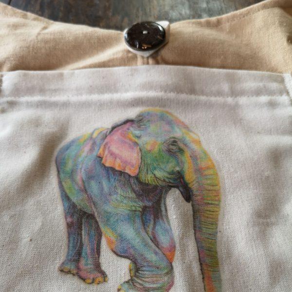 Printed elephant bag