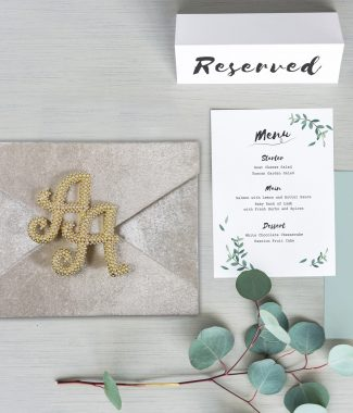 Monogram velvet envelope