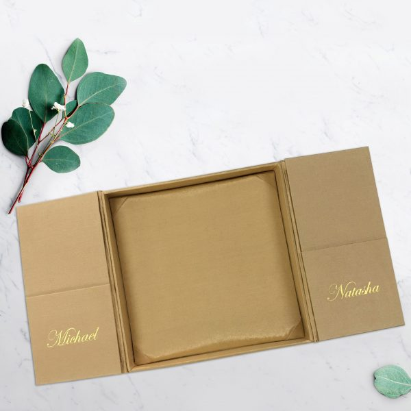 personalized Thai silk boxed wedding invitation