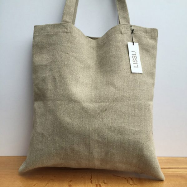 Eco friendly linen shopping bag