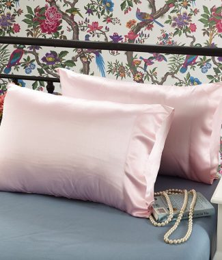 Pink Thai silk pillow