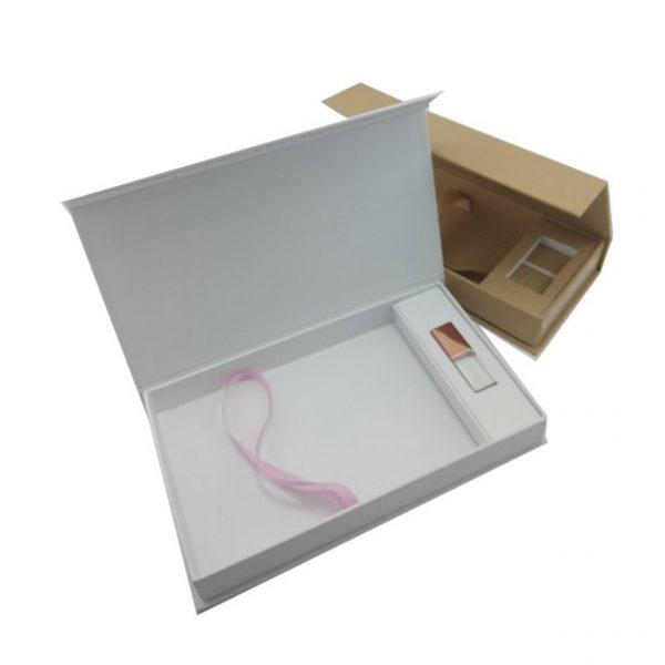 Large linen USB box