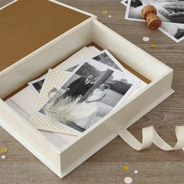 leatherette paper invitation box
