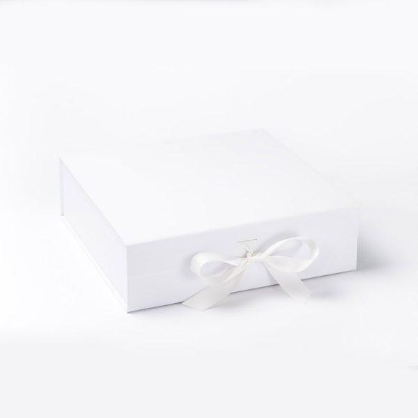 White bridesmaid gift box