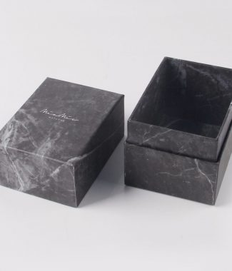 Luxury black marble box