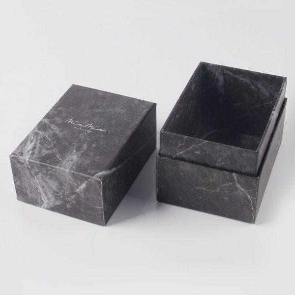 Luxury black marble box