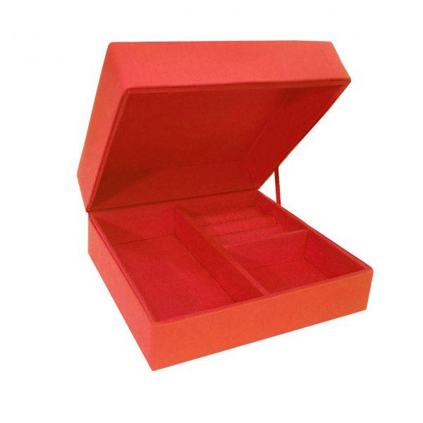Elegant silk jewelry box