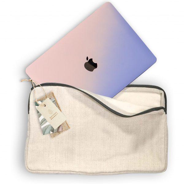 Sleeve style hemp notebook bag