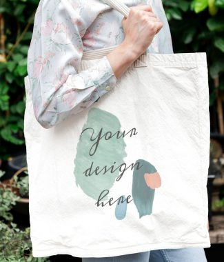 Cotton shopping bag, printed with love