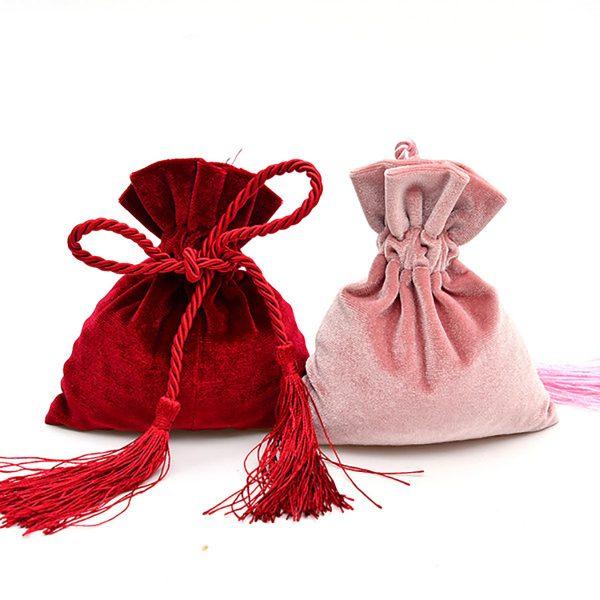 Luxury velvet drawstring bags
