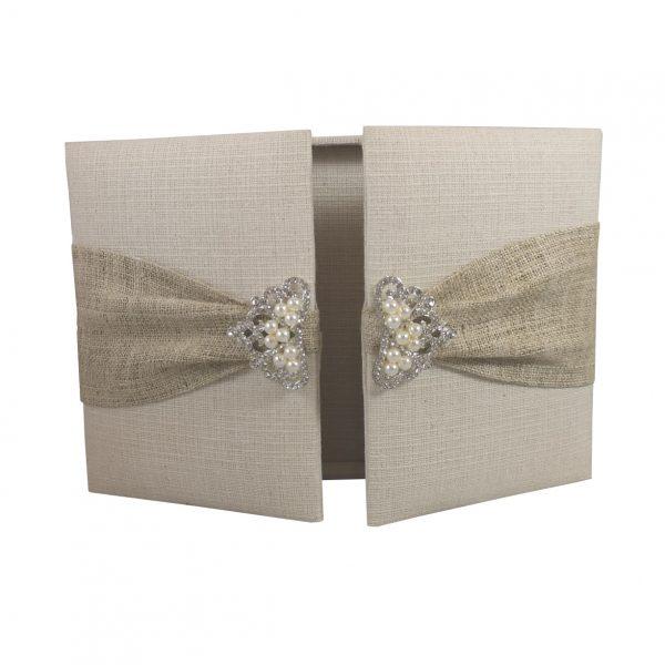 gatefold hemp wedding box