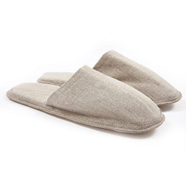 Linen indoor slipper