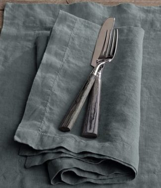 Dark grey linen napkins