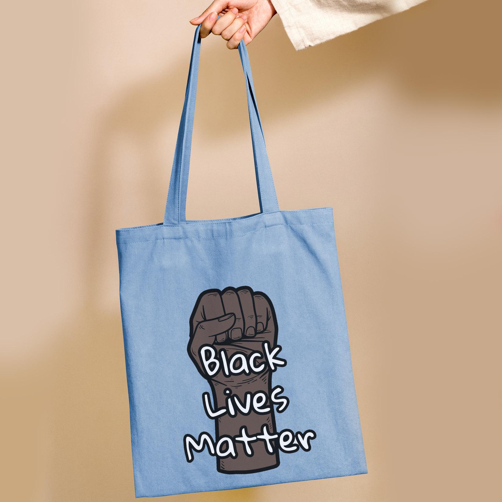 "Custom printed ""black lives matter"" cotton tote bag"