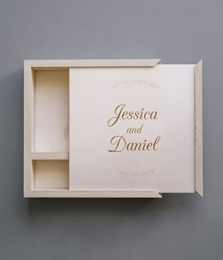 Wooden save the date box