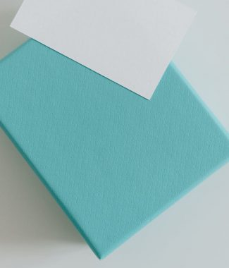 Light blue paper gift box