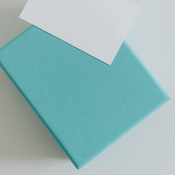 Light blue paper gift box
