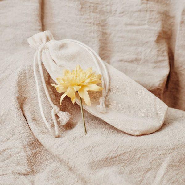 Plain cotton drawstring bag
