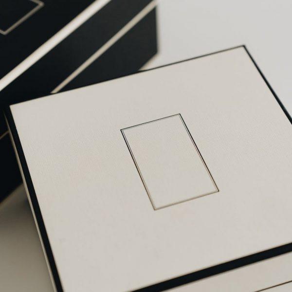 Luxury black and white paper gift box