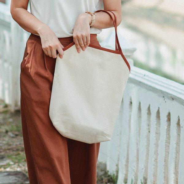Korean style ladies cotton tote bag