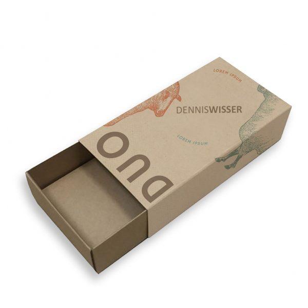 kraft paper drawer box with print